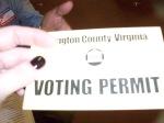 I've got a Voting Permit!!!!